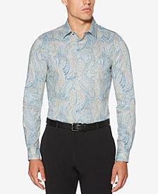 Perry Ellis Men's Speckle Paisley-Print Shirt