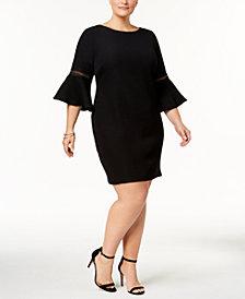 Jessica Howard Plus Size Bell-Sleeve Sheath Dress