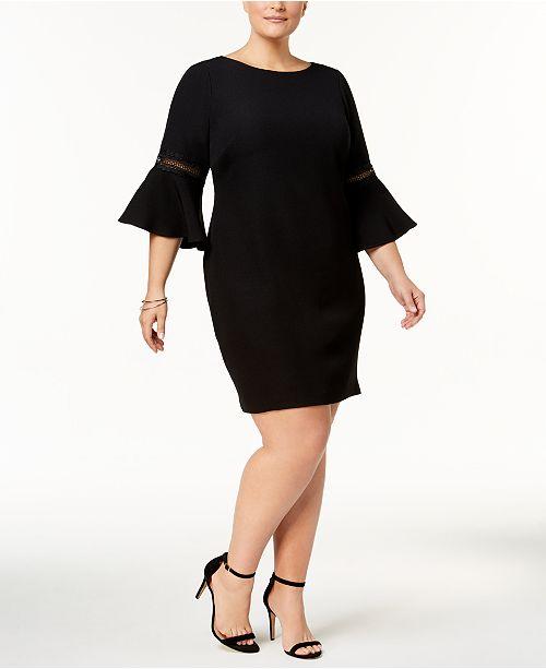 c8aaa6d87b3 Plus Size Bell-Sleeve Sheath Dress. 4 reviews. main image  main image ...
