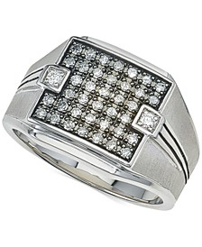 Diamond Ring (1/2 ct. t.w.) in Sterling Silver, Created for Macy's