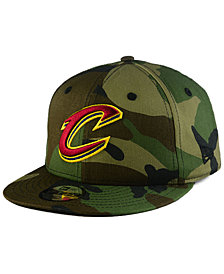 New Era Boys' Cleveland Cavaliers Woodland Team 9FIFTY Snapback Cap