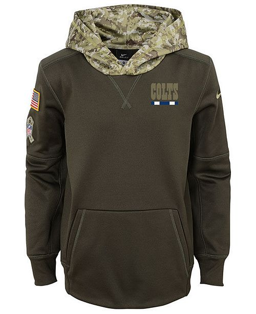 33e8c5f41 ... Nike Indianapolis Colts Salute To Service Therma Hoodie, Big Boys  (8-20) ...
