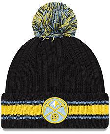 New Era Denver Nuggets Basic Chunky Pom Knit Hat