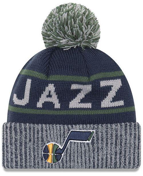 New Era Utah Jazz Court Force Pom Knit Hat - Sports Fan Shop By Lids ... 6c0a073b3f2