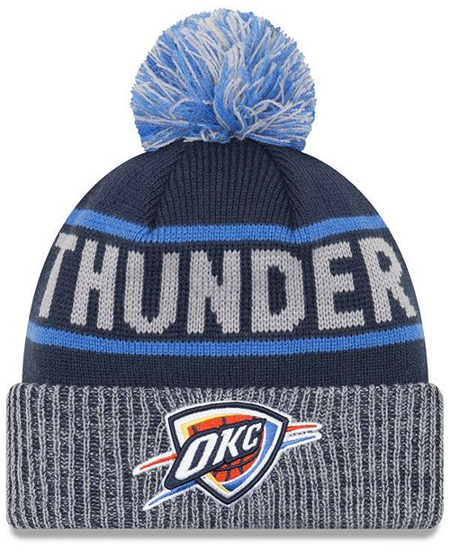 860e68a09a8 New Era Oklahoma City Thunder Court Force Pom Knit Hat - Sports Fan ...