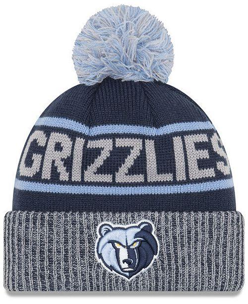 New Era Memphis Grizzlies Court Force Pom Knit Hat