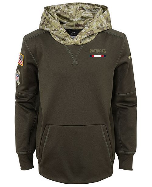 quality design 34378 f7eab Nike New England Patriots Salute To Service Therma Hoodie ...