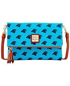 Dooney & Bourke Carolina Panthers Foldover Crossbody Purse