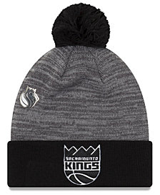 New Era Sacramento Kings Pin Pom Knit Hat