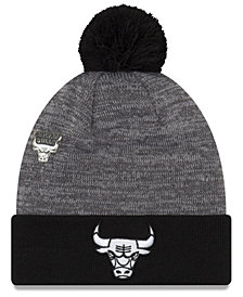 New Era Chicago Bulls Pin Pom Knit Hat
