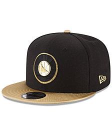 New Era Golden State Warriors Triple Gold 9FIFTY Snapback Cap
