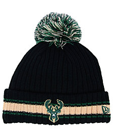 New Era Milwaukee Bucks Basic Chunky Pom Knit Hat
