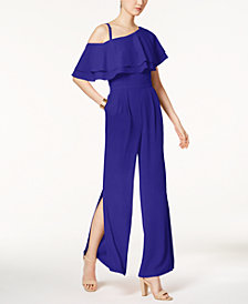 Vince Camuto Ruffled One-Shoulder Jumpsuit