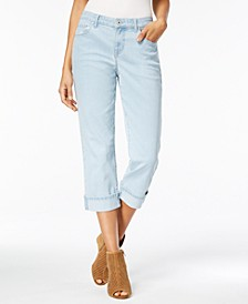 Curvy Cuffed Capri Jeans, Created for Macy's