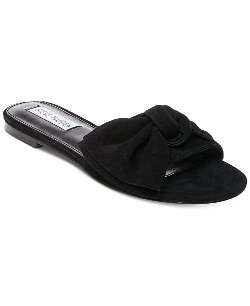 8ff85fe7882 Steve Madden Women s Truesdale Bow Flat Sandals   Reviews - Sandals ...