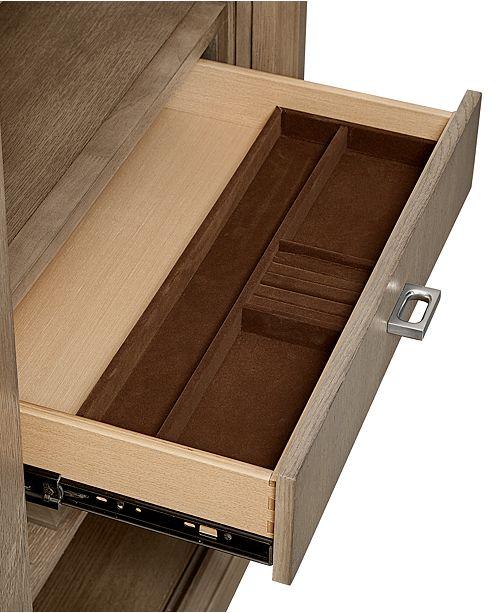 Furniture Rachael Ray Highline 5 Drawer Sliding Door Chest