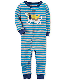 Carter's Blue Stripe Super Dog Cotton Pajamas, Baby Boys