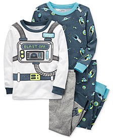 Carter's 4-Pc. Astronaut-Print Cotton Pajama Set, Baby Boys