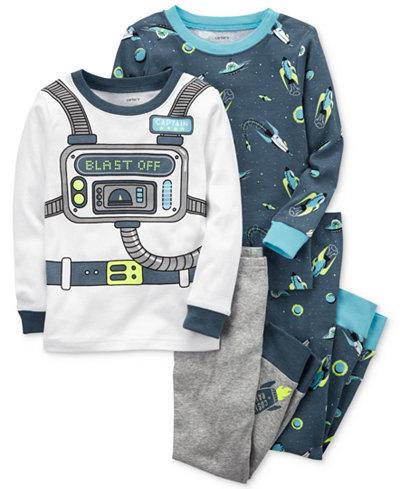 Carter's 4-Pc. Astronaut-Print Cotton Pajama Set, Baby Boys