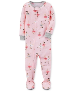 Carters BallerinaPrint Footed Cotton Pajamas Baby Girls (024 months)