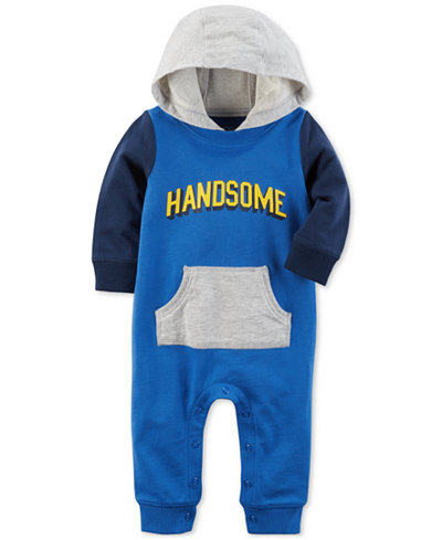 Carter's Hooded Handsome Cotton Coverall, Baby Boys