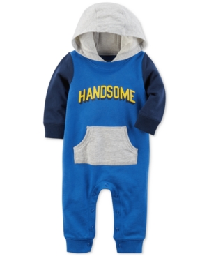 Carters Hooded Handsome Cotton Coverall Baby Boys (024 months)