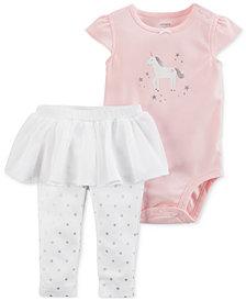 Carter's 2-Pc. Unicorn Cotton Bodysuit & Tutu Leggings Set, Baby Girls