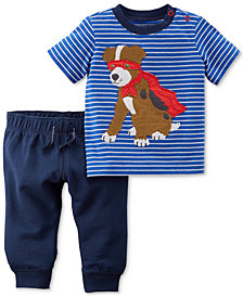 Carter's 2-Pc. Graphic-Print Cotton T-Shirt & Jogger Pants Set, Baby Boys