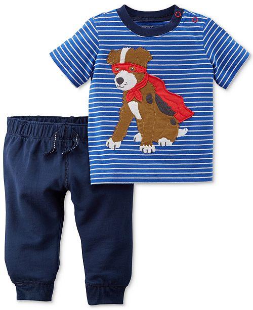 325ebfbe0 Carter s 2-Pc. Graphic-Print Cotton T-Shirt   Jogger Pants Set