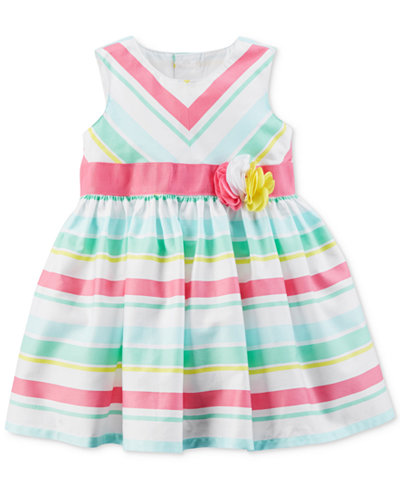 Carter's Multicolor Striped Dress, Baby Girls