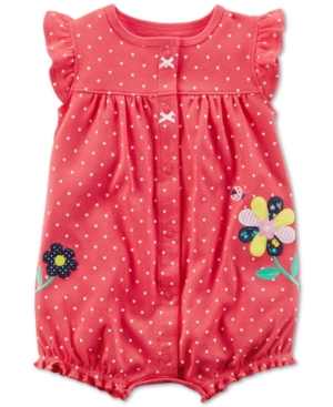 Carters DotPrint Cotton Romper Baby Girls (024 months)