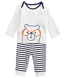 Baby Boys 2-Pc. Bear-Print Top & Leggings Set, Created for Macy's