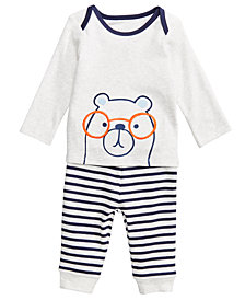 First Impressions Baby Boys 2-Pc. Bear-Print Top & Leggings Set, Created for Macy's