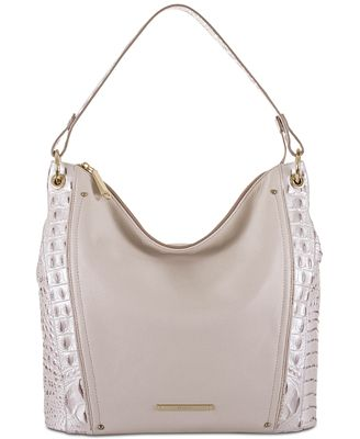 Brahmin Sevi Toasted Macaroon Marais Medium Hobo
