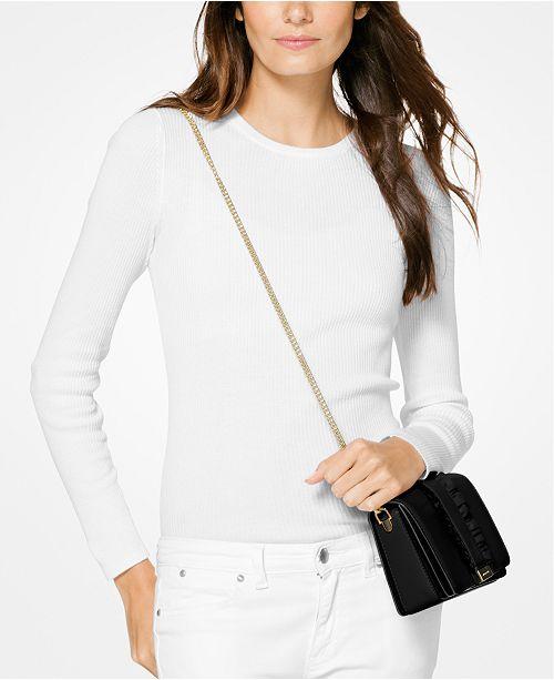 7907af691c93 Michael Kors Jade Medium Gusset Clutch & Reviews - Handbags ...