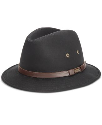 Dorfman Pacific Plaid Suiting Fedora with Self Trim HAT
