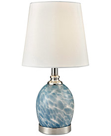 Dale Tiffany Boyton Art Glass Accent Lamp with Night Light