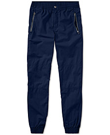 Ralph Lauren Poplin Cotton Jogger Pants, Big Boys