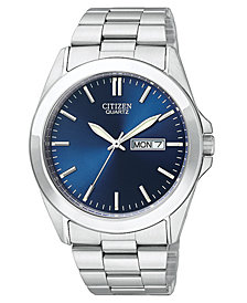 Citizen Men's Stainless Steel Bracelet Watch 41mm BF0580-57L
