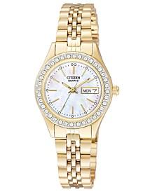 Women's Gold-Tone Stainless Steel Bracelet Watch 26mm EQ0532-55D