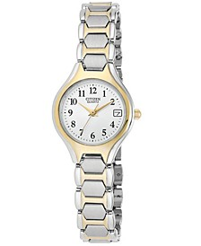 Women's Two Tone Stainless Steel Bracelet Watch 23mm EU2254-51A