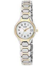 Citizen Women's Two Tone Stainless Steel Bracelet Watch 23mm EU2254-51A