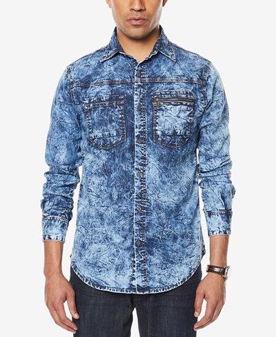 Sean John Men's Denim Pocket Shirt, Created for Macy's