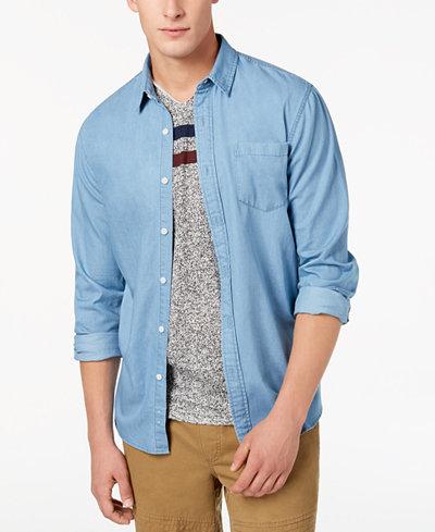 American Rag Men's Light Wash Denim Shirt, Created for Macy's