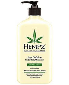 Hempz Age Defying Herbal Body Moisturizer, 17-oz., from PUREBEAUTY Salon & Spa