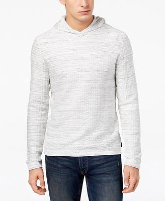 Calvin Klein Men's Textured Hooded Sweater