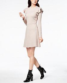 J.O.A. Ruffled Fit & Flare Dress