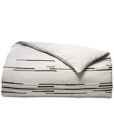 CLOSEOUT! Hotel Collection Global Stripe King Duvet Cover, Created for Macy's
