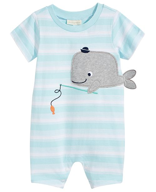 First Impressions Whale Cotton Romper, Baby Boys, Created for Macy's