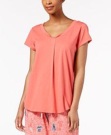 HUE® Solid Pleated Pajama Top